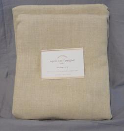 "1 Pottery Barn Natural Belgian Flax Linen Unlined 84"" Curt"