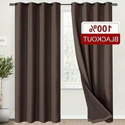 Rose Home Fashion 100% Blackout Curtains for Living Room, Li
