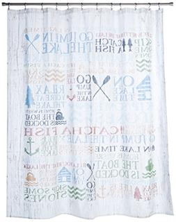 "Avanti Linens Lake Words72 x 72"" Shower CurtainMulti-Colored"