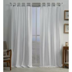Exclusive Home Curtains 2 Pack Loha Linen Braided Tab Top Cu