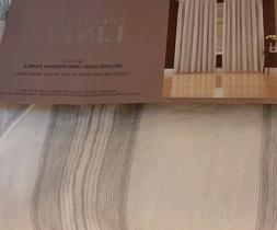 Pure Luxury Linen 50x84 Belgian lined panels curtains rod po