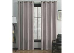 "54""x84"" Loha Linen Grommet Top Window Curtain Panel Pair-2 B"