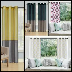 ALL SEASON ENERGY EFFICIENT BLACKOUT LINEN GROMMET CURTAIN P