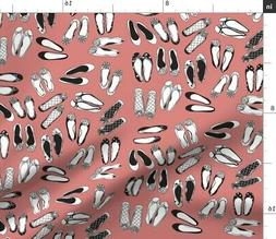 Ballet Flats Flat Fashion Shoe Home Decor Fabric Printed by