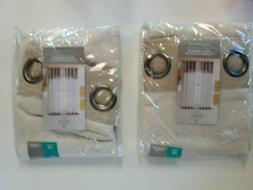 BayView Colorblock Grommet Panel Curtains Linen/Ivory, 50x63