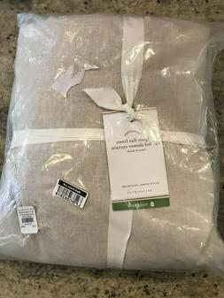 "Pottery Barn Belgian Linen Ruffle Shower Curtain 72"" x 72"" F"