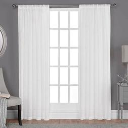 belgian linen sheer rod pocket curtain panel