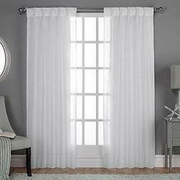 Exclusive Home Curtains Belgian Textured Linen Look Jacquard