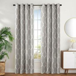 Blackout Curtains for Bedroom Moroccan Tile Design Linen Tex