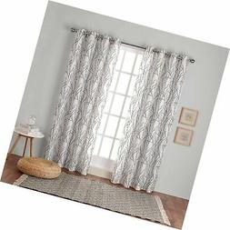 Exclusive Home Curtains Branches Linen Blend Window Curtain
