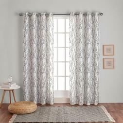 branches linen blend window panel