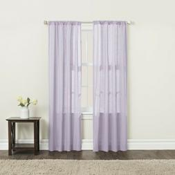 Brielle Home Clarke 100% Cotton Window Curtain Panel-Pack of