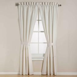 Royal Linens Cait 84-Inch Window Curtain Panel Pair in Grey