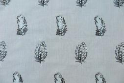 "CLARKE & CLARKE CURTAIN FABRIC ""Plumis"" 1.3 METRES MINERAL &"