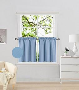 Fancy Collection 2 Panel Light Blue Bedroom Curtains Blackou