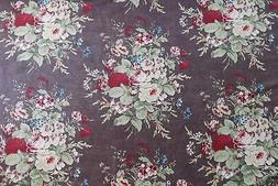 "MULBERRY CURTAIN/UPHOLSTERY FABRIC DESIGN ""Faded Bouquet"" 6"