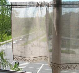 Curtains Lace Curtains Natural Gray Cafe Curtains Washed Lin