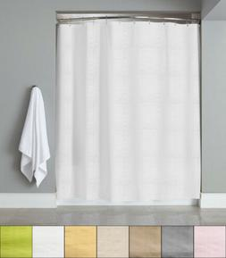 "Embossed Fabric Shower Curtain/Liner 70""x72"" Heartwood Hotel"