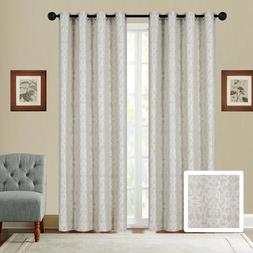 Fancy Linen Embroidery 2Pc Curtain Set With Grommet Modern J