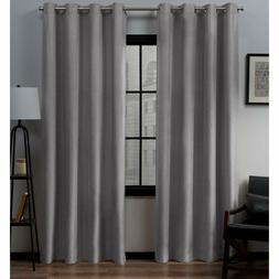 Exclusive Curtains Loha Linen Window Curtain Panel Pair with