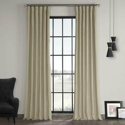 Exclusive Fabrics & Furnishings French Linen Curtain Navy Po