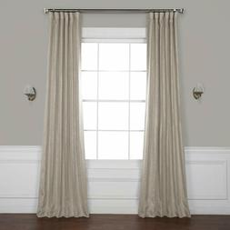 Exclusive Faux Linen Blackout Room Darkening Curtain 50 X 12
