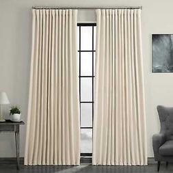 Extra Wide Faux Linen Blackout Curtains (Sold...