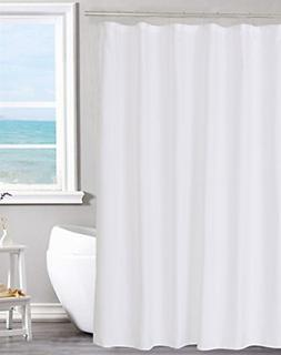 Fabric Shower Curtain Liner Solid White Hotel Quality Machin