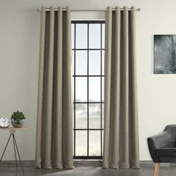 Exclusive Fabrics Faux Linen Blackout Grommet Curtain Boch-L