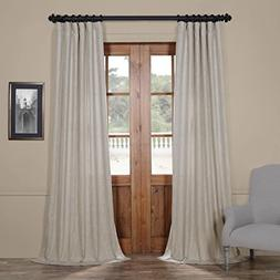 Half Price Drapes Fhlch-VET13197-96 Heavy Faux Linen Curtain