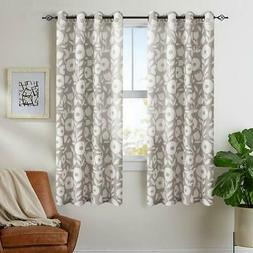 Vangao Floral Printed Curtains for Living Room 63 inch Lengt