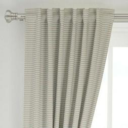 """Frilly Stripe Lacey Lingerie Burnt Orange 50"""" Wide Curtain P"""