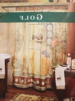"Bacova Golf Shower Curtain 70""x70"" Bathroom Decor Linen"