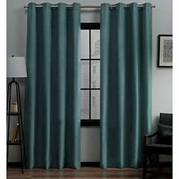 "Exclusive Home Grommet Panels  Loha Linen Top Curtains 52"" x"