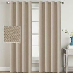 H.VERSAILTEX Linen Blackout Curtains 108 Inches Long Room Da