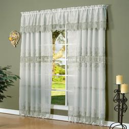 Habitat Annamaria Faux Linen Macrame Tailored Curtain Panel