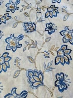 Jaclyn Smith Trend Fabric 3 yards Navy Linen