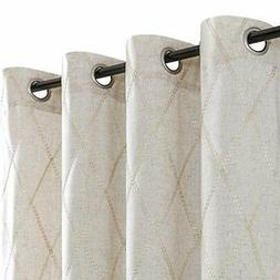 jinchan linen textured curtains for living room