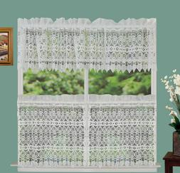"""Creative Linens Knitted Lace Kitchen Curtain Valance or 24"""""""