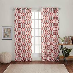 Exclusive Home Kochi Linen Blend Grommet Top Curtain Panel P