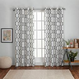 Exclusive Home Kochi Linen Blend Window Grommet Top Curtain