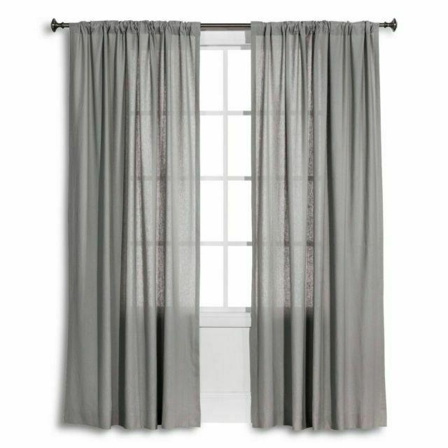 17341133 linen look curtain grey