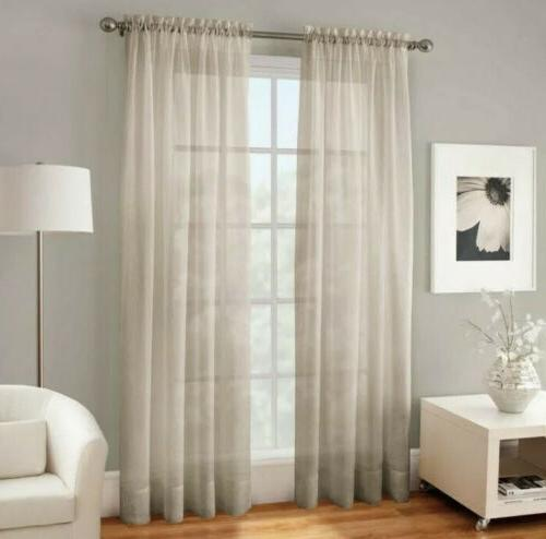 2 crushed voile sheer 120 inch rod