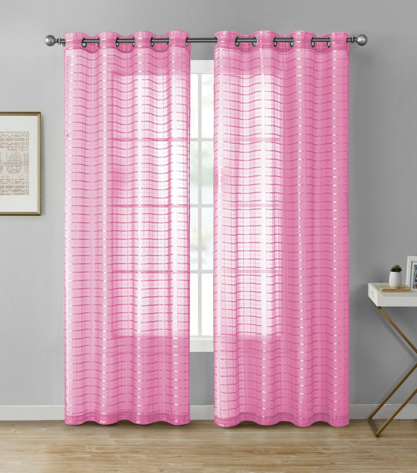 2 Pack: Plaid Grommet Curtains Assorted Colors
