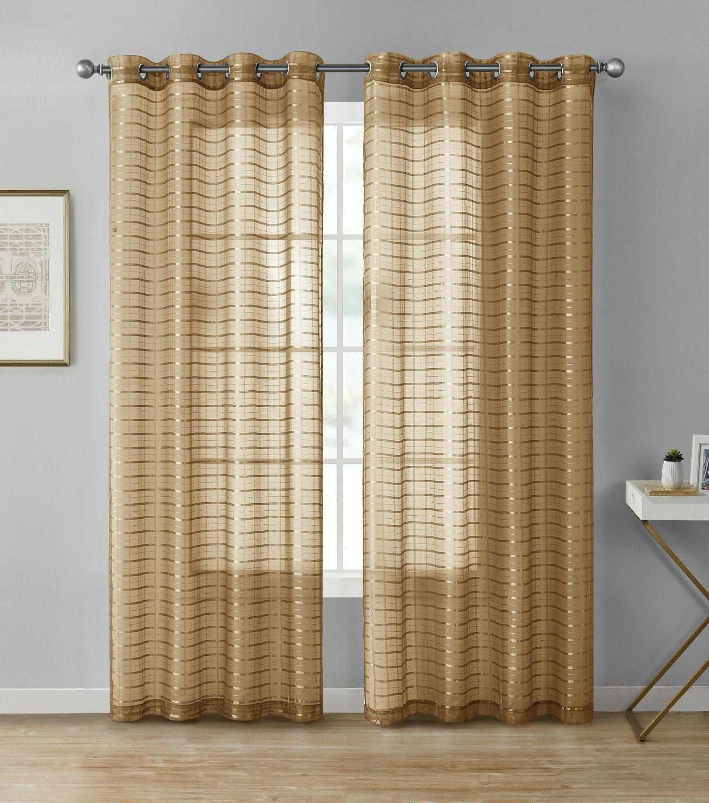 2 Pack: Semi Plaid Curtains - Assorted