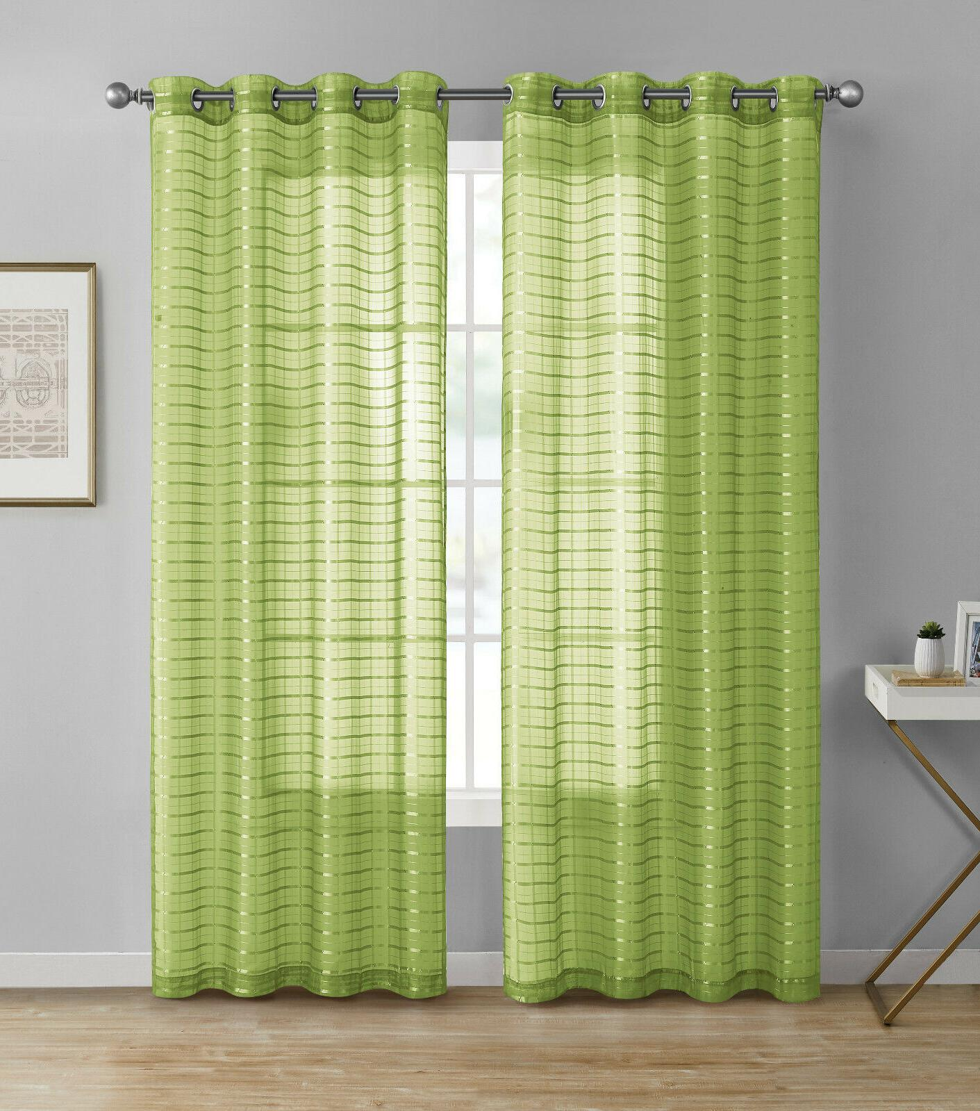 2 Pack: Plaid Curtains Assorted