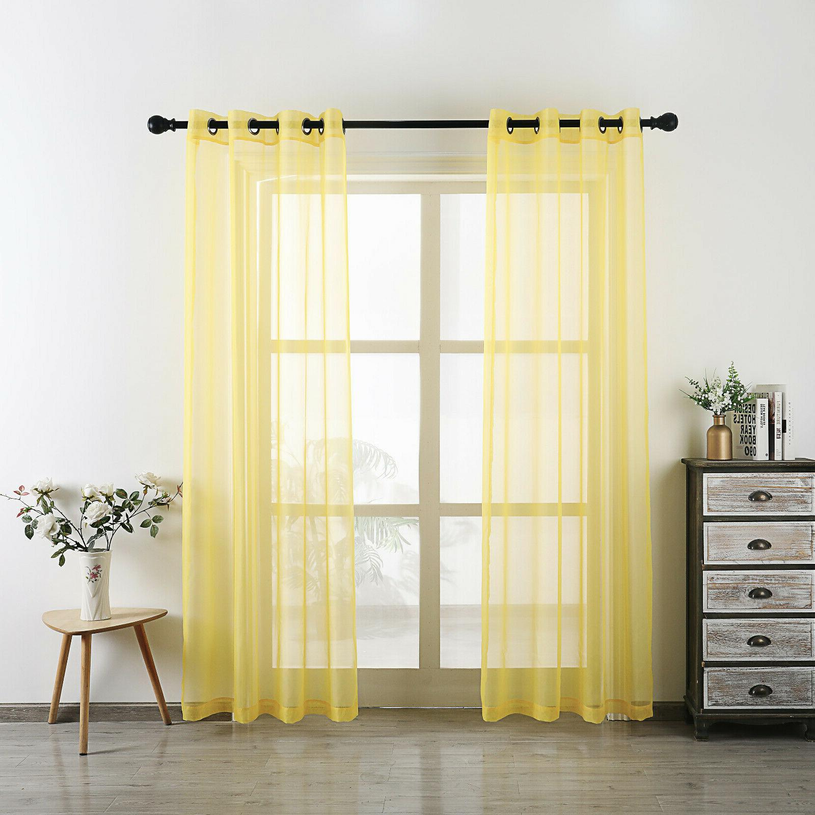 Voile Top Window Curtains -