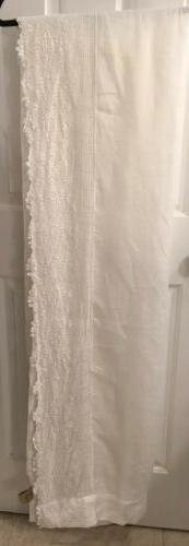 """Passport to India 54x93"""" White Linen With Crochet Lace Cur"""