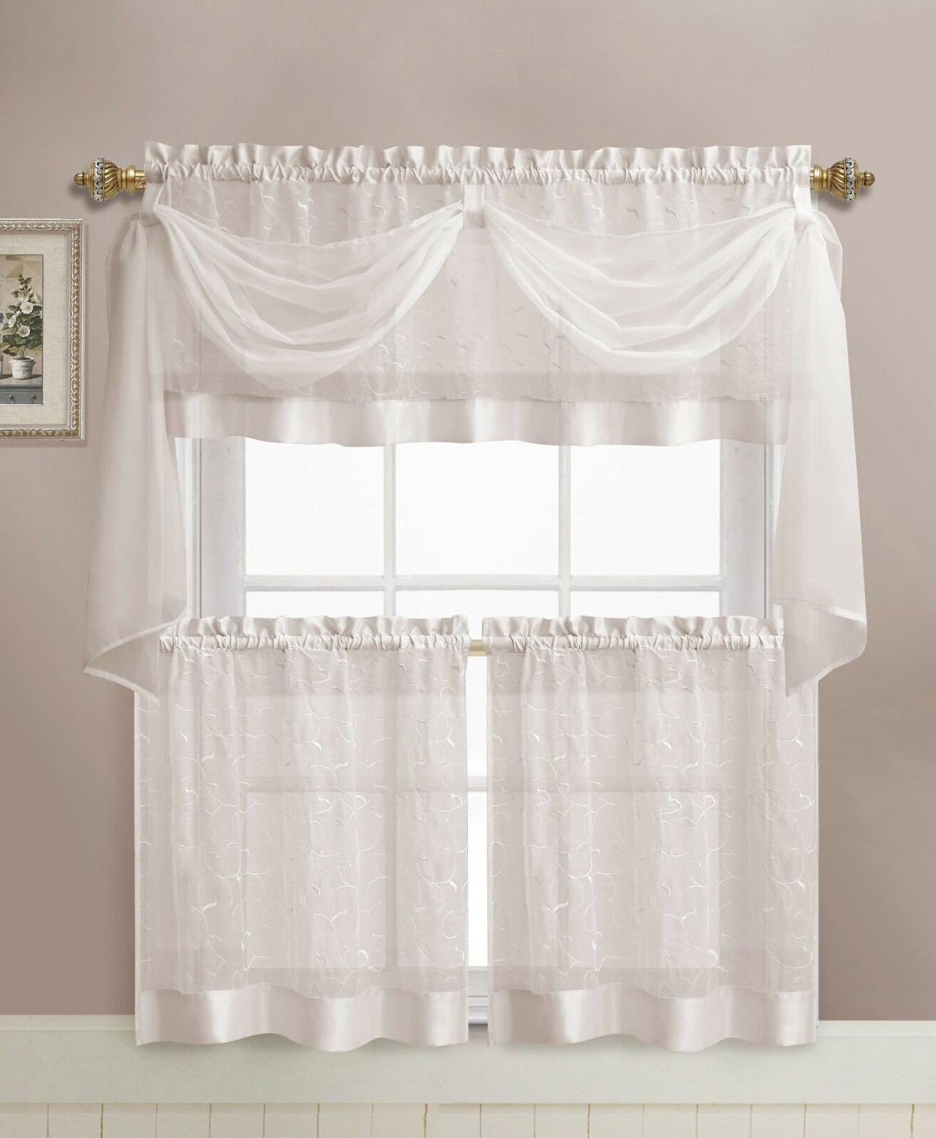 vcny home linen leaf embroidered complete kitchen
