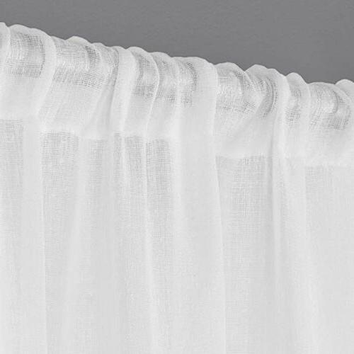 Sheer Pocket Curtain Panel Pair,